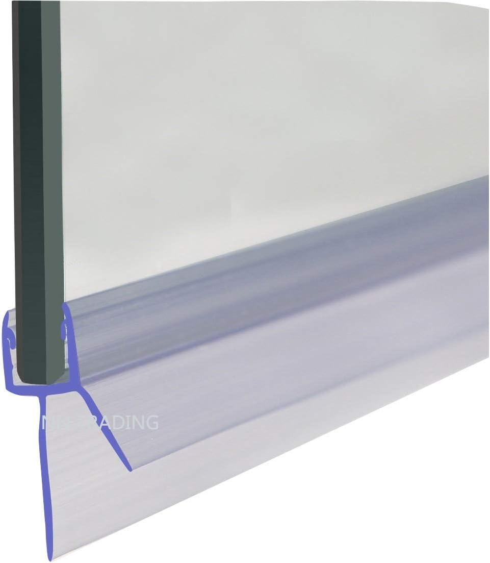 hasta 20 mm de Espacio HNNHOMER Junta para mampara de Ducha de Cristal de 8 a 10 mm
