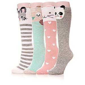 Color City Girls Socks Knee High Stockings Cartoon Animal Warm Cotton Socks