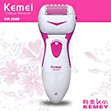 Kemei KM-2500 Foot Care Remover Electric Foot Dead Dry Skin Callus Remover with Extra Bonus Roller by EzLife (Battery Operated)