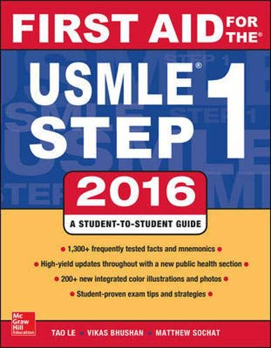 First Aid for the Usmle Step 1, 2016