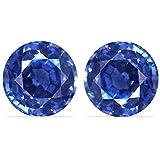 2.28 Carat Untreated Loose Sapphires Round Cut Pair (GIA Certificate)