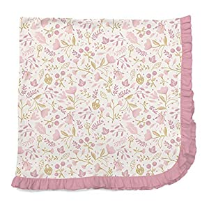 Magnificent Baby Infant Modal Swaddle Blanket, Holly Berry Pink