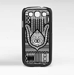 Black and White Evil Eye Hand of Mary Hard Snap on Phone Case (Galaxy s3 sIII)