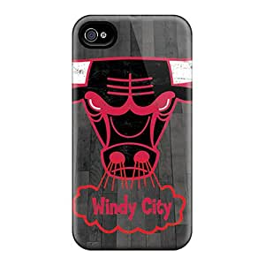 JonBradica Iphone 4/4s Scratch Resistant Hard Phone Covers Customized Colorful Chicago Bulls Pictures [WSo3686ASCs]