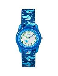 Timex Boys TW7C13500 Time Machines Analog Blue Sharks Elastic...