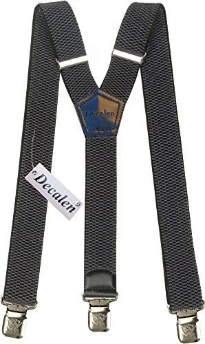 Mens+Suspenders+Wide+Adjustable+and+Elastic+Braces+Y+Shape+with+Very+Strong+Clips+-+Heavy+Duty+%28Dark+Grey%29