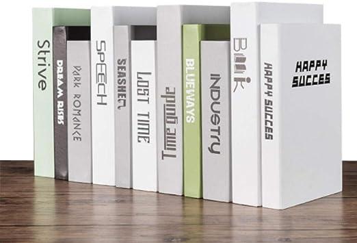 SQBB Libro Decorativo Decoraciones de Libros de simulación de ...