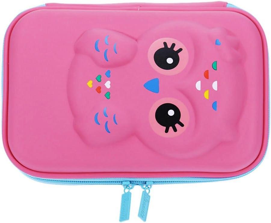 Vanpower EVA - Estuche para lápices de gran capacidad, diseño de animales, color rosa: Amazon.es: Oficina y papelería