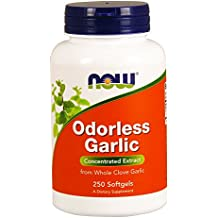 NOW Odorless Garlic,250 Softgels