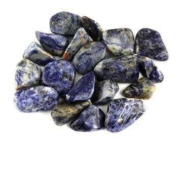 amazon com crystal allies materials 1lb bulk tumbled blue sodalite