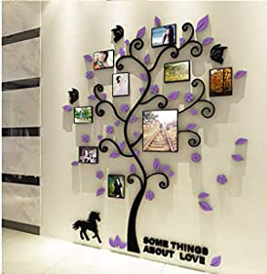 Creative 3D Photo frame crystal acrylic three-dimensional wall sticker living room TV background wall decoration mm