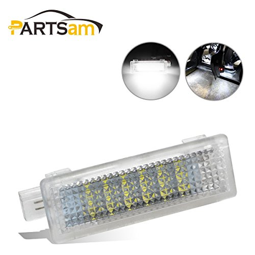 Partsam 2pcs White Under Door Step Courtesy LED Lights Bulbs for BMW 1 3 5 7 X Z Series