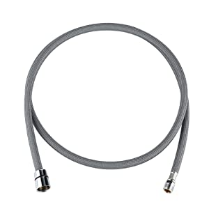 Kitchen Faucet Pull Out Replacement Hose,Pull Down Sink Faucet Parts,Spray Head Tube,Gray