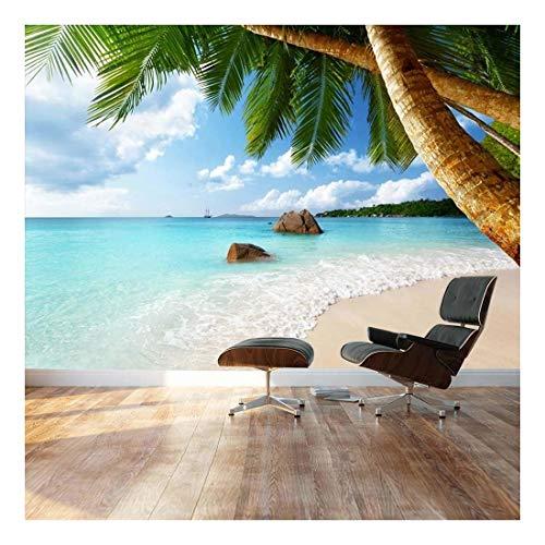 Palm tree paradise ashore Landscape Wall Mural