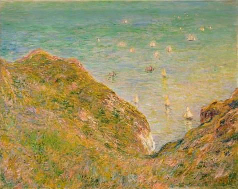 Perfect Effect Canvas ,the Vivid Art Decorative Prints On Canvas Of Oil Painting 'On The Cliff At Pourville, Bright Weather, 1882 By Claude Monet', 20x25 Inch / 51x64 Cm Is Best For Home Theater Decor And Home Decor And (Diva Zebra Print Lunch Napkins)