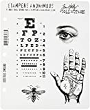 Stampers Anonymous Tim Holtz Cling Rubber Stamp Set, Oddities