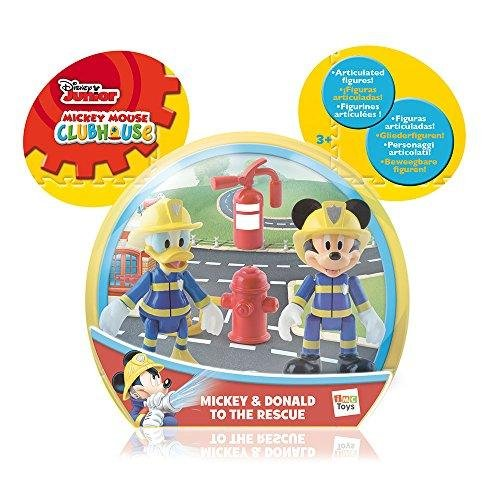 Disney Mickey Mouse Clubhouse Mickey & Donald To The Rescue 2 Figure (Fireman Mickey Mouse)