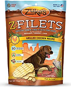 Amazon.com : Zuke'S Z-Filets Dog Treats, Savory Chicken