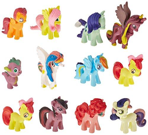 OliaDesign 12 Piece Little Pony PVC Toy Cake