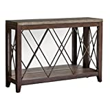 Rustic Wood Industrial Console Table | Distressed Iron Contemporary
