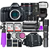 Canon EOS 5D Mark IV Digital SLR Camera with Canon EF 24-105mm f/4L IS II USM Lens + Tamron Zoom 70-300mm f/4-5.6 Di LD Macro Autofocus + Canon EF 50mm f/1.8 STM Lens + Accessory Bundle