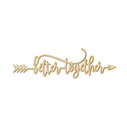 amazon com better together arrow wood sign better together decor