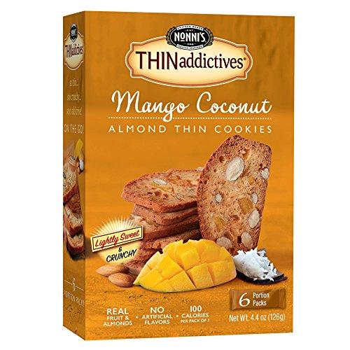 Mango Dessert Coconut (Nonni's THINaddictives, Thin Cookies, Mango Coconut Almond, 6 Count, 4.4 Ounce)