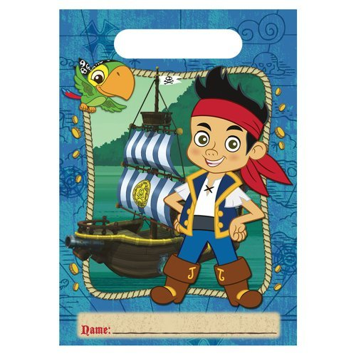 SmileMakers Disney Jake & The Neverland Pirates Party Favor Bags - 8 per Pack]()