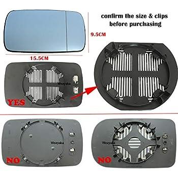 For BMW E39 528i E46 328i OEM Driver Left Mirror Back Primed 51168238375