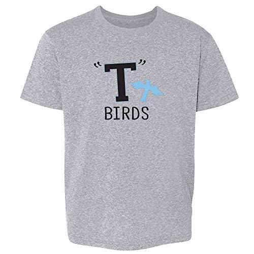 T Birds Gang Logo Costume Retro 50s 60s Sport Grey 4T Toddler Kids -