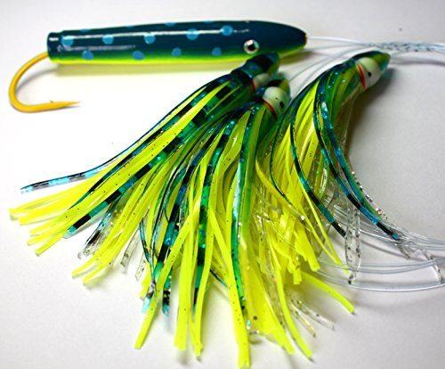 4in Mahi Cedar Plug Daisy Chain Saltwater Fishing Lure for Mahi Tuna Sails (Cedar Plug Daisy Chains)