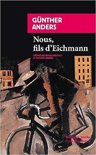 Livres Nous, fils d'Eichmann pdf