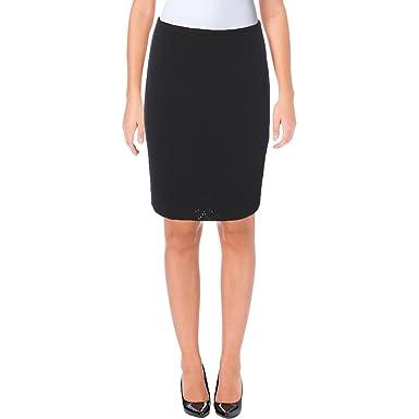 Calvin Klein Womens Petites Eyelet Pleated Pencil Skirt At Amazon