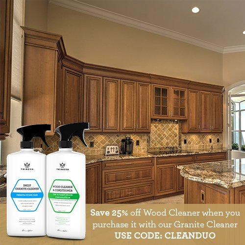 Clean Grease Kitchen Cabinets: Wood Cleaner, Conditioner, Wax Polish