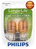 Philips 7440NA LongerLife Miniature Bulb, 2 Pack