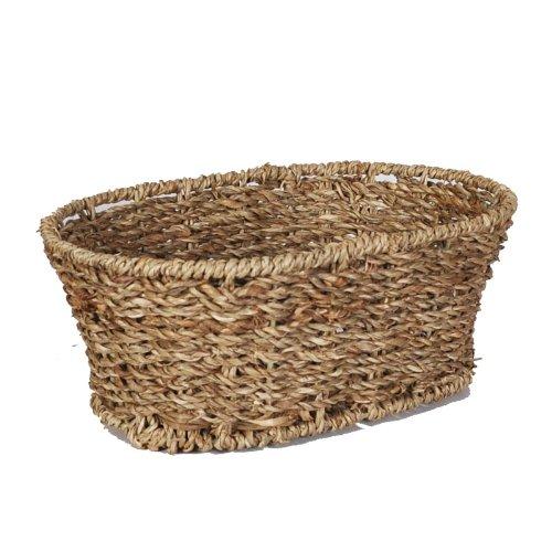 The Lucky Clover Trading Sea Grass Oblong Tray Basket, Small