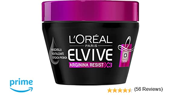 LOréal Paris Elvive Mascarilla Arginina Resist - 300 ml: Amazon.es: Amazon Pantry