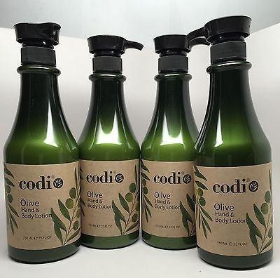Codi Olive Hand & Body Lotion 25 fl oz 750ml 4 pc