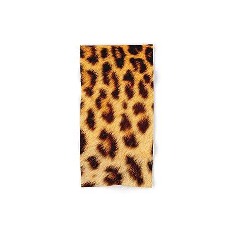 Society6 leopardo piel de mano y toalla de baño
