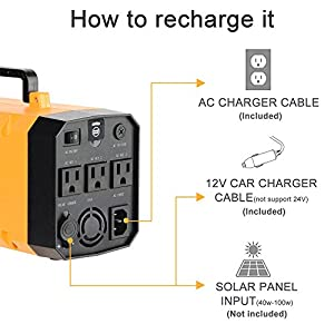 (Pure Sine Wave ) Igoeshopping Rechargeble Power Supply (Lithium)+Uninterruptible Power Supply(UPS) + Car Jump Starter 500A AMP Peak- 26A Power Bank AC DC USB Charger for Emergency Outdoor