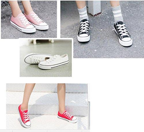 ZFNYY Zapatos de Lona Hembra Personalidad Tiro Plano Inferior Ayudar a los Estudiantes de Moda Casual