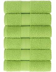 MAURA HOME Luksusowy zestaw ręczników kąpielowych 100% bawełna Jakość hotelowa i spa. 2 duże ręczniki kąpielowe 70x140, 4 ręczniki dla gości 30x50. Szybkoschnące ręczniki frotte. Miękkie, pluszowe i mocno chłonne.