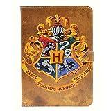 Unique Retro Vintage Hogwarts Badge Pattern Leather Flip Slim Book Shell Stand Case Cover For ipad mini 1 2 Retina ipad mini 3