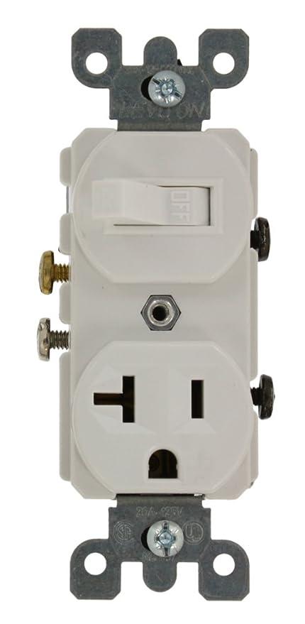 Leviton 5335 20 Amp, 120 Volt, Duplex Style Combination Single Pole ...