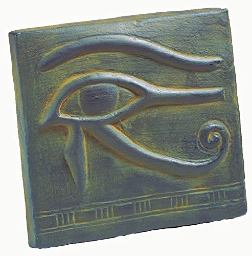 Egyptian Eye Horus - Discoveries Egyptian Imports - Egyptian Eye of Horus Wall Plaque - Made in Egypt