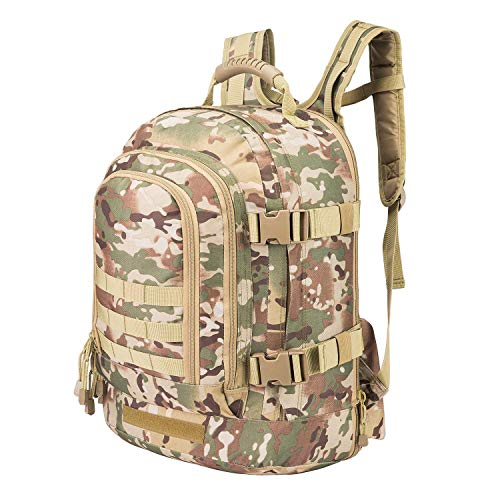 WolfWarriorX 3-Day Expandable with Waist Pack Large Rucksack Hiking Fishing Camping Climbing Traveling Tactical Laptop Bag Molle Assault Bug Out Backpack