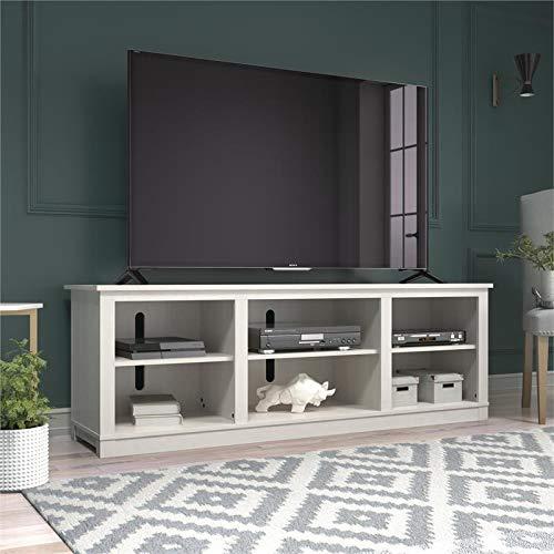 Ameriwood Home Edgewood 75″, Ivory Pine TV Stand,