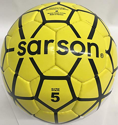 Soccer Ball Size 5, 4, 3 Yellow Soccer Ball for Kids, Youth, Adults | Hand-Stitched Quality for Recreation, Training, and a Match | Imported (5)
