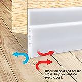 """Door Draft Stopper, Under Door Insulator Door Sweep Weather Stripping Noise Stopper Prevent Bugs(White 2"""" Width X 39"""" Length)"""