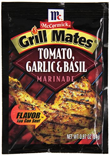 - McCormick Grill Mates Tomato, Garlic & Basil Marinade, 0.87 oz (Case of 12)